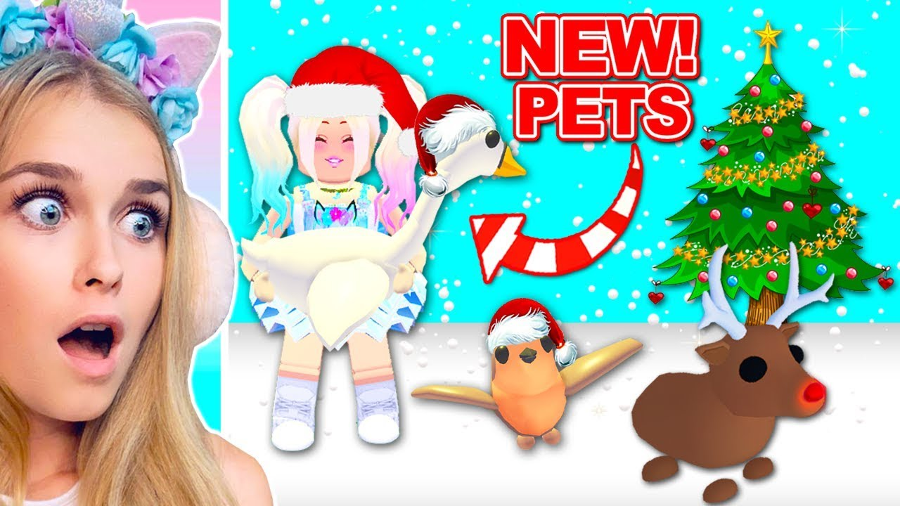 New Christmas Pets In Adopt Me Roblox Youtube