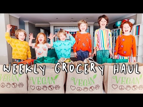 Weekly Grocery Shopping Haul – Large Vegan Family of 8