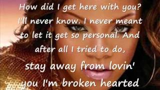Karaoke +  lyrics Rihanna - Cry (instrumental)