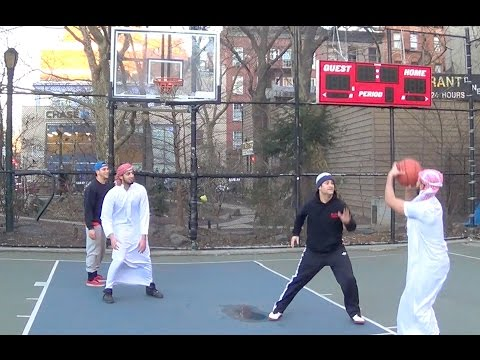 STREET BASKETBALL MATCH! TEAM ISLAM vs. TEAM USA