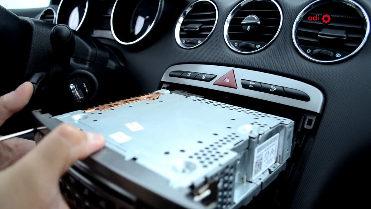peugeot 308 audio unit removal and refitting youtube rh youtube com