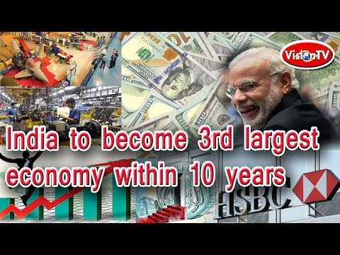 India to become 3rd largest economy within 10 years. Vision TV World.