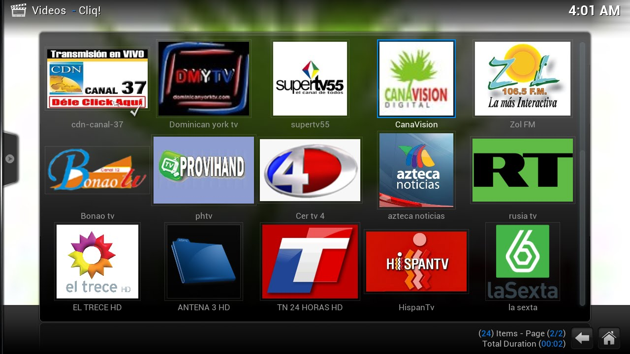 Dominican republic Cliq IPTV Live Tv channels - YouTube