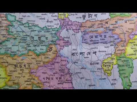 West Bengal map close up