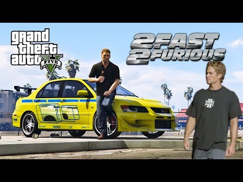GTA 5 - Побег Брайана О'коннора на Mitsubishi Evolution (2 Fast 2 Furious / Двойной Форсаж)