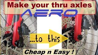 Thru axles - making yours aero