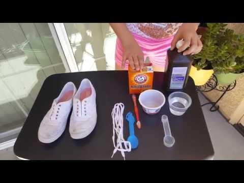 Лучшее средство для чистки белой обуви - сода и уксус!