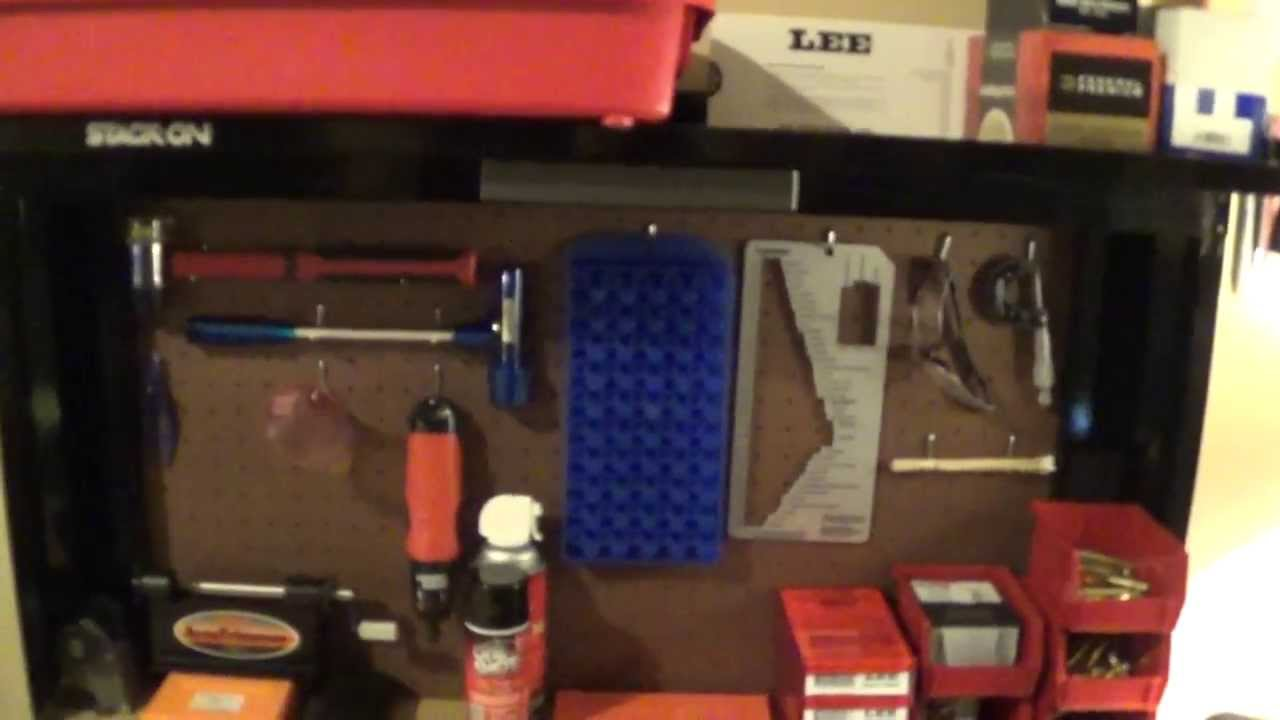 Stack On Reloading Bench And Supplies Youtube