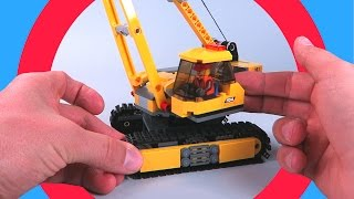 Kids Video - Excavator Animation. Lego City Demolition Site Review
