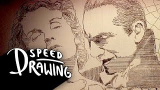 Repeat youtube video Etch-A-Sketch Speed Drawing: 1931 Dracula HD