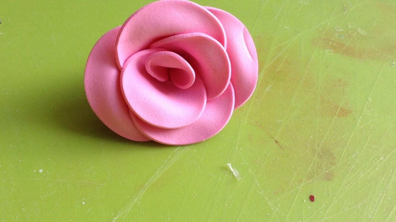 spesso Crea Una Bellissima Rosa In Gomma Crepla - Fai da Te Creazioni  NA79