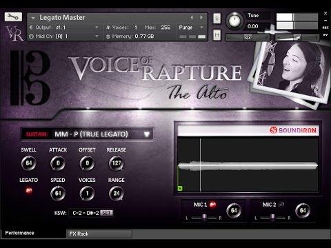 Soundiron Voice Of Rapture: The Alto  - solo alto vocal library walk-through