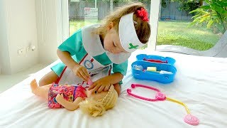 Milusik play with baby doll