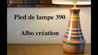 TOURNAGE PIED DE LAMPE EN VALCHROMAT. 390