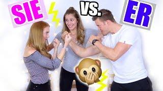 BFF vs. MANN Makeup CHALLENGE! Laura oder Hendrik?! ♡ BarbaraSofie