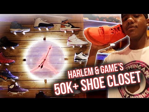 The Game & His Son Harlem's INSANE Sneaker Room! Air Mags, Yeezys, RARE Jordans & More!