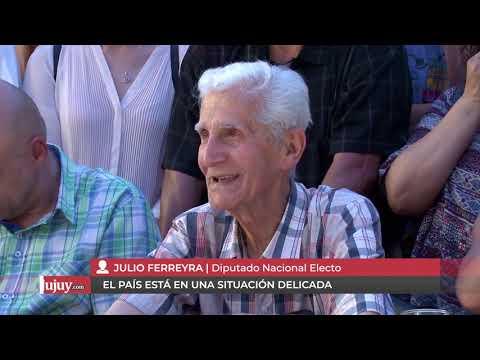 Julio Ferreyra: El país está en una situación delicada y tenemos que trabajar juntos