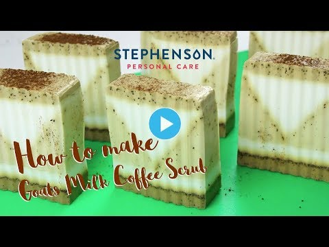 How To Make Goats Milk Coffee Scrub Soap