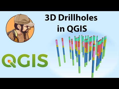 Display drillholes in 3D in Qgis and Create Sections