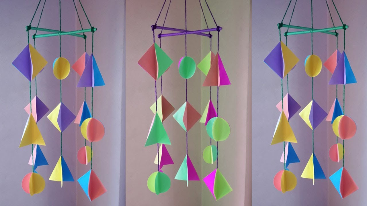 Diy Wind Chime How To Make Paper Chimes For Room Decoration
