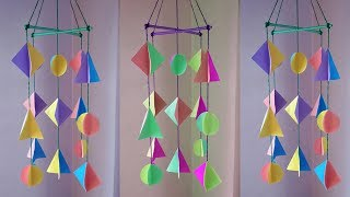 DIY: Wind chime !!! How to Make Paper Wind Chimes for Room Decoration !!!