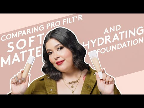 COMPARING PRO FILT R SOFT MATTE AND HYDRATING FOUNDATION | FENTY BEAUTY from YouTube · Duration:  2 minutes 15 seconds