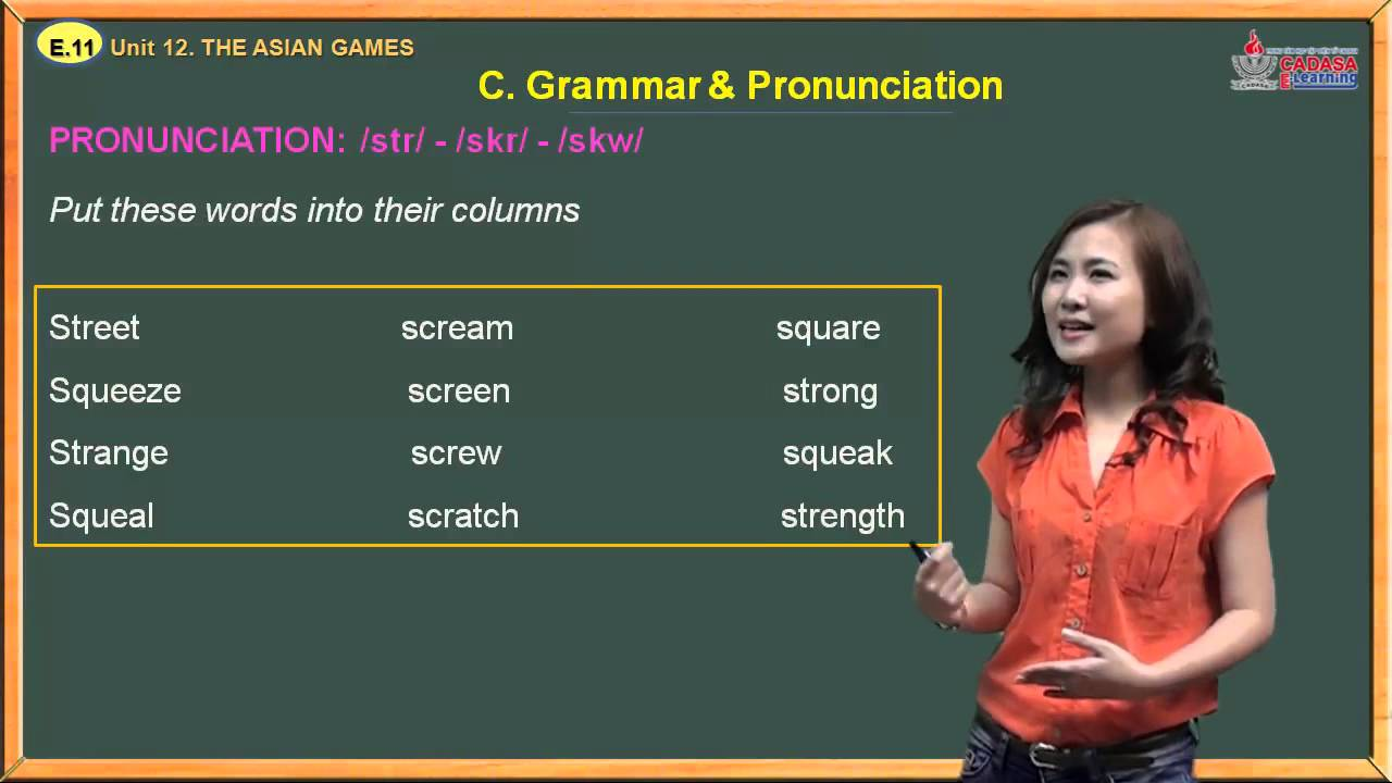 Ngữ pháp tiếng Anh 11 – Unit 12. The Asian Games – Grammar And Pronunciation