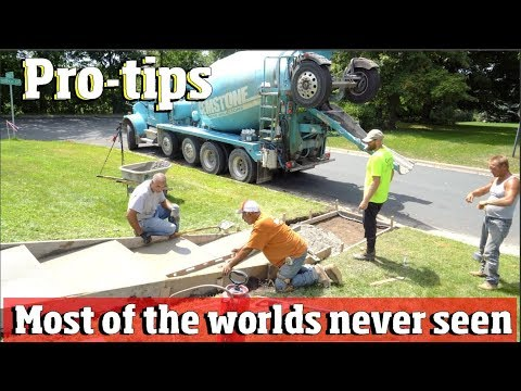 How To Pour, Form And Finish Concrete Stairs. PRO-Advice From 2 Masters With 35 Years Exp. 4k Video