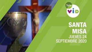 Misa de hoy ⛪ Jueves 24 de Septiembre de 2020, Padre Johan Daza Valencia – Tele VID