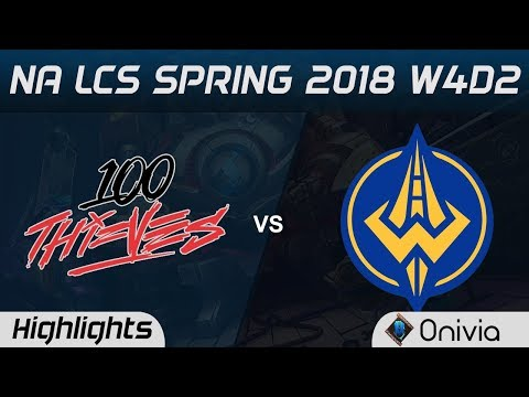 100 vs GGS Highlights NA LCS Spring 2018 W4D2 100Thieves vs Golden Guardians by Onivia