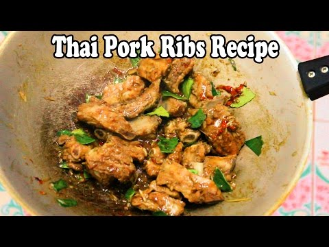 Thai Pork Ribs Recipe: Fried Pork Ribs with Lemongrass. Delicious Thai Food Recipes