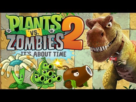 Plants vs. Zombies 2 - Jurassic Plant! Travel Video