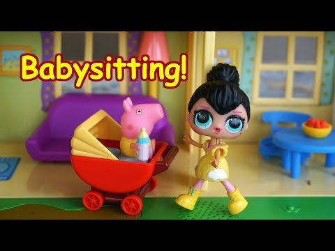 Lol Surprise Doll Courtney Babysits Peppa Pig!