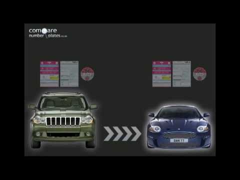 How to transfer a private number plate vehicle to vehicle