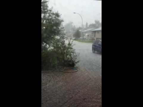 #hail #storm #Alberta today
