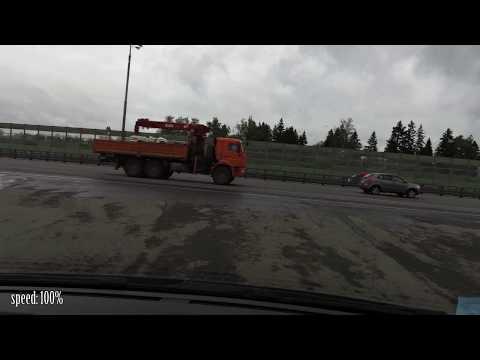 За минуту до ДТП Киевское шоссе 06.06.2017