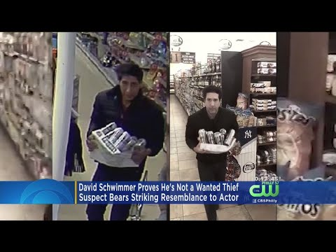 David Schwimmer Spoofs Ross-From-'Friends' Robbery In Video