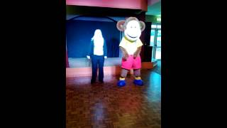 Marvin The Monkey And Carys Doing The Cha Cha Slide