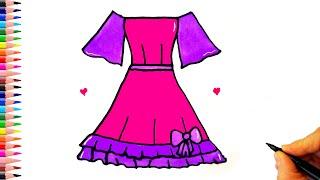 Çok Kolay Elbise Çizimi - Kolay Çizimler - Kolay Elbise Çizimleri