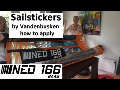 How to apply sail stickers (cut technology) created by vandenbusken