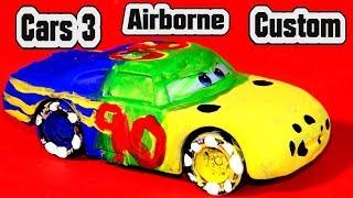 Pixar Cars 3 Custom Airborne Diecast Demolition Derby Crazy 8 Car with Primer Lightning McQueen Cars