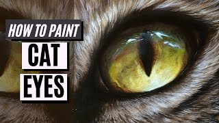 How to Paint: YELLOW CAT EYES with Oil Paint or Acrylic Paint