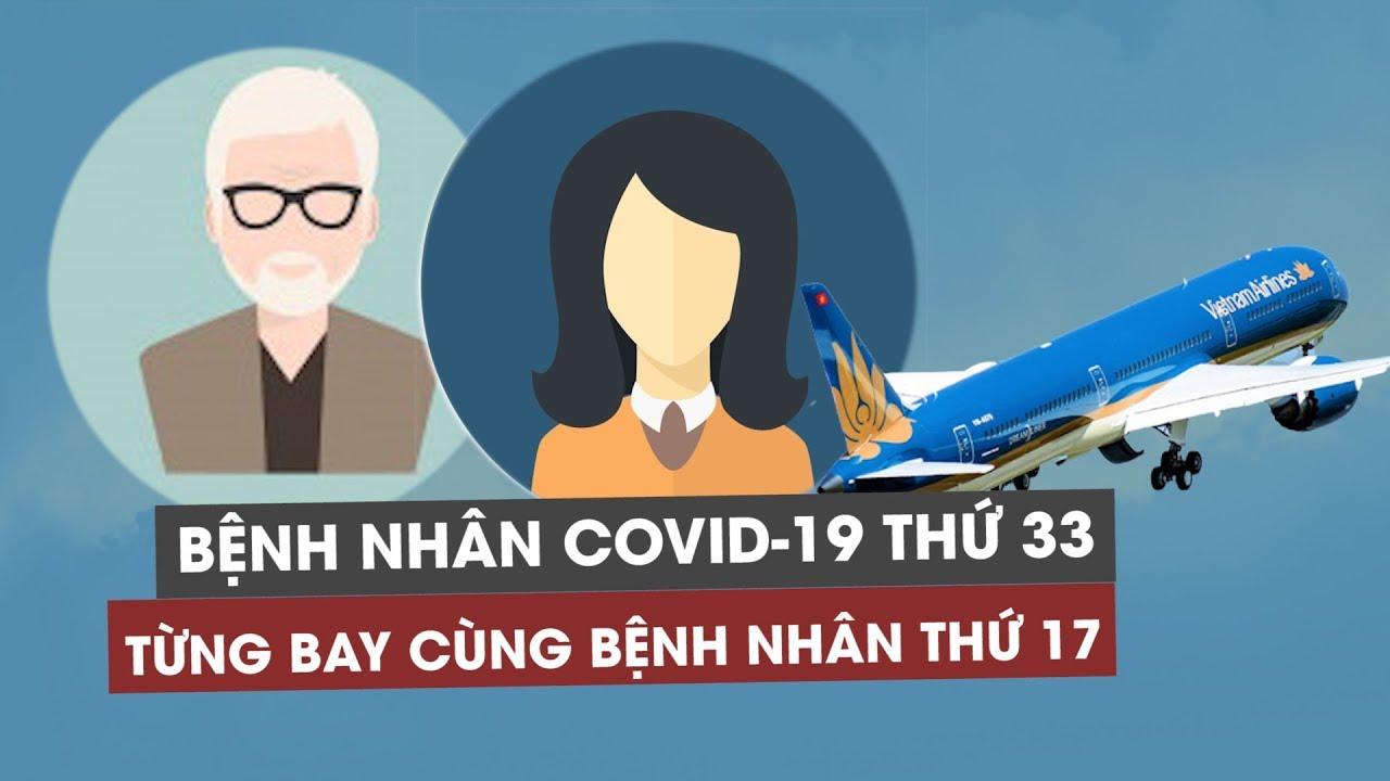 Việt Nam phát hiện ca Covid-19 thứ 33, từng bay cùng bệnh nhân thứ 17