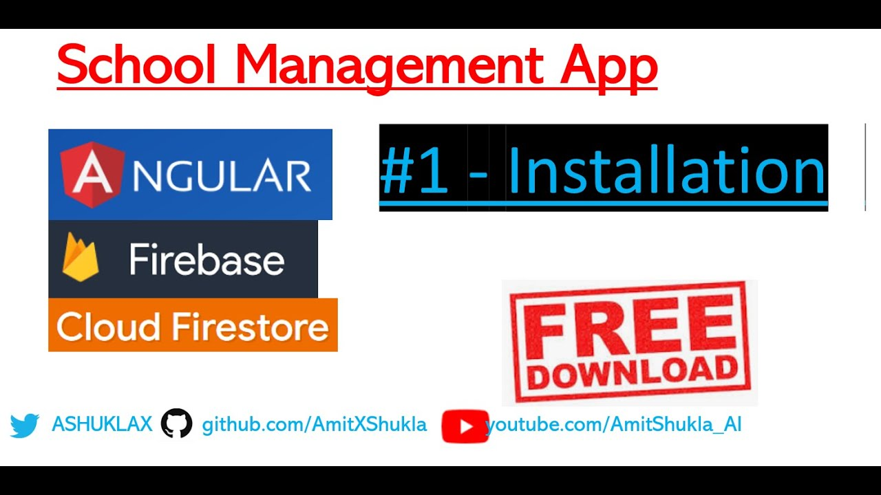 Online School, Student, Management #1 Angular Firebase App - Free download  with complete source code