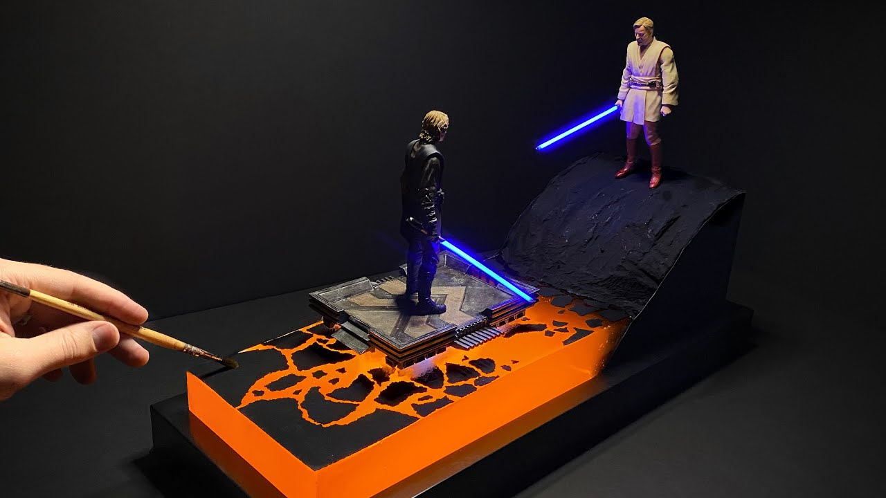 High Ground Diorama | Glowing Lava Resin Art *100K Special!!*