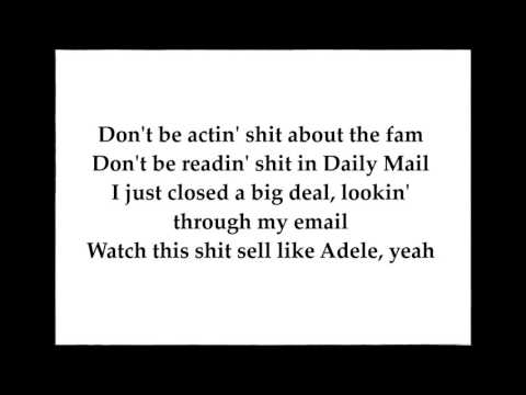 Tyga - 100s ft  Chief Keef, AE (LYRICS)