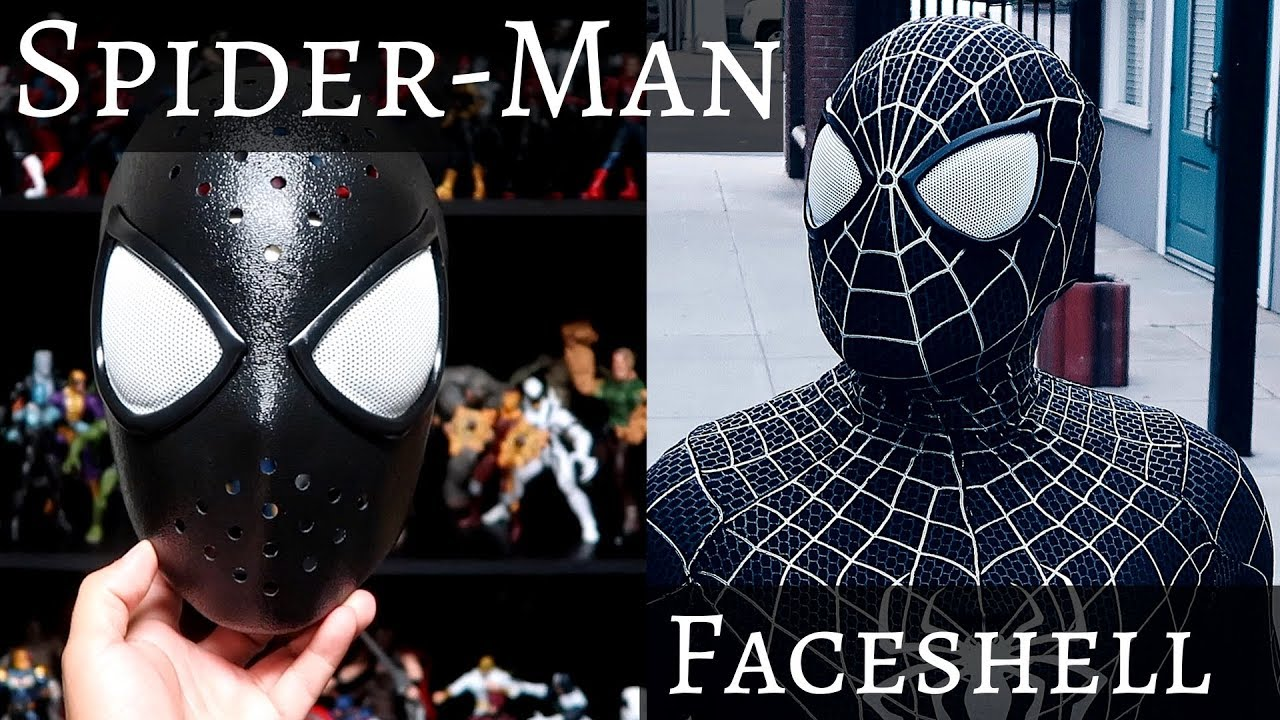 New Spider-man Face Shell With The Comic Magnetic Lenses