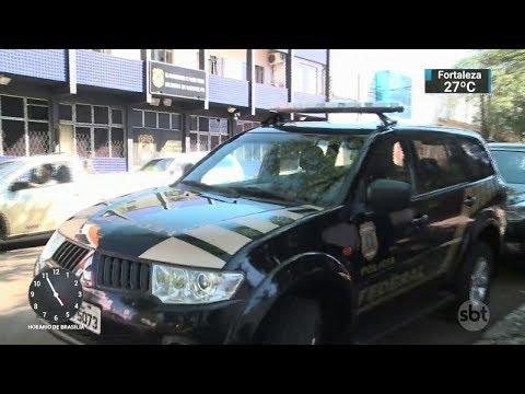 Polícia Federal realiza operação contra o tráfico de drogas no Paraná   SBT Notícias (25/11/17)