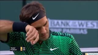 Federer vs Nadal Indian Wells 2017 R4 Highlights HD