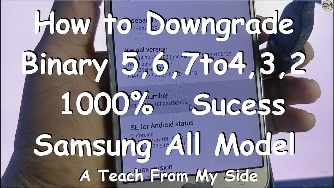 How to Downgrade Samsung New Method | J710f touch not